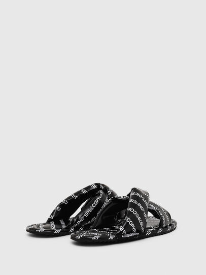 Diesel - SA-MERY X, Black/White - Slippers - Image 3