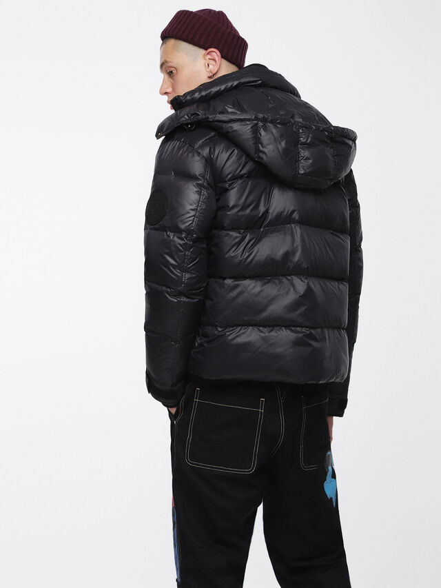 Diesel - W-SMITH-A, Black - Winter Jackets - Image 2