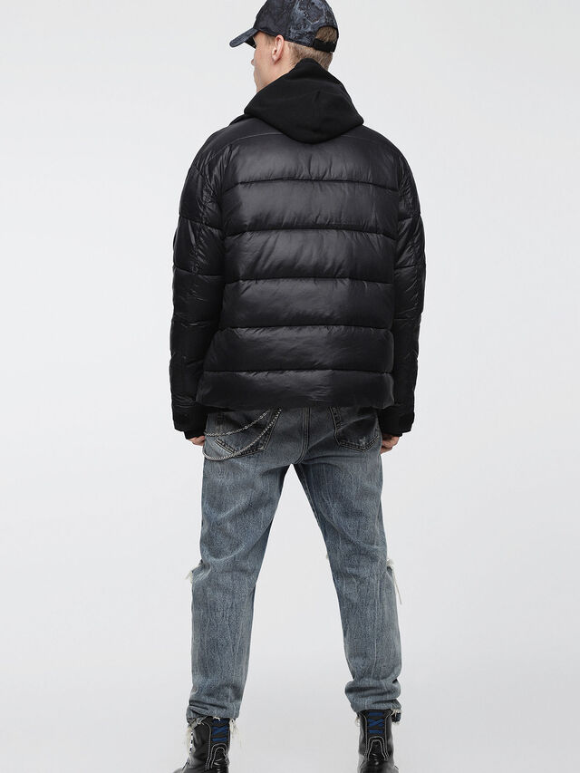 Diesel - W-SMITH-A-WH, Black - Winter Jackets - Image 2