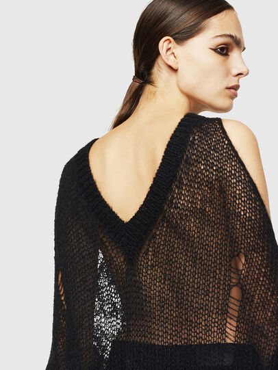 Diesel - M-VANIX, Black/White - Knitwear - Image 5