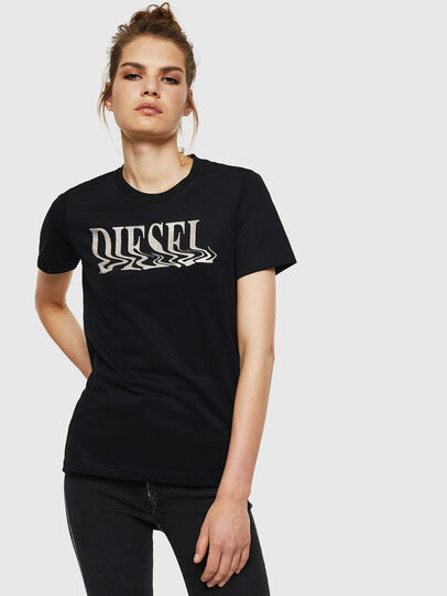 Diesel - T-SILY-WN, Black - T-Shirts - Image 1