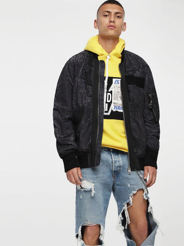 Diesel - J-SOULY-TYE, Dark Melange - Jackets - Image 1