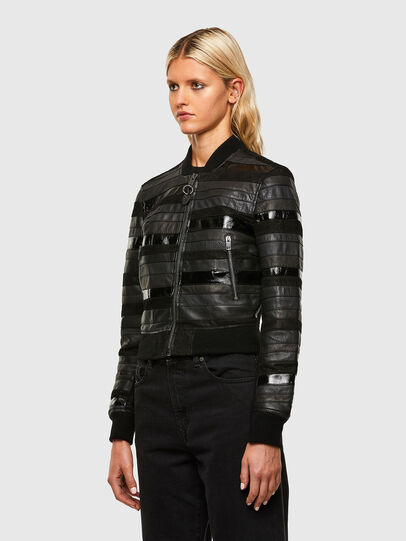 Diesel - L-WALL, Black - Leather jackets - Image 5
