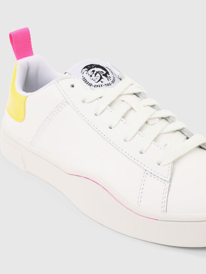 Diesel - S-CLEVER LOW LACE W, White/Yellow - Sneakers - Image 4