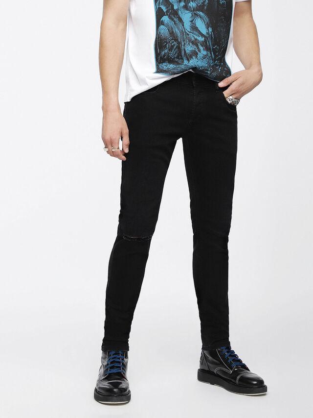 Diesel - Sleenker 084ZN, Black/Dark grey - Jeans - Image 1