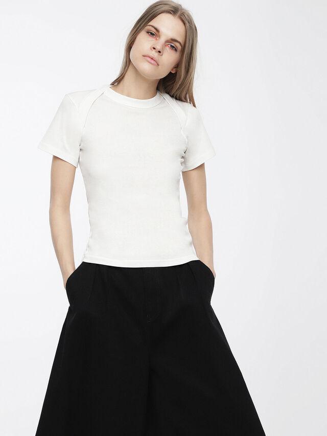 Diesel - T-SALI-A, White - T-Shirts - Image 1