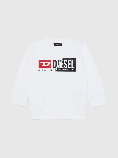Diesel - SGIRKCUTYB-R, White - Sweaters - Image 1