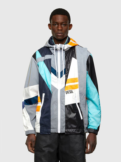 Diesel - J-EDWARD, Blue/Grey - Jackets - Image 1