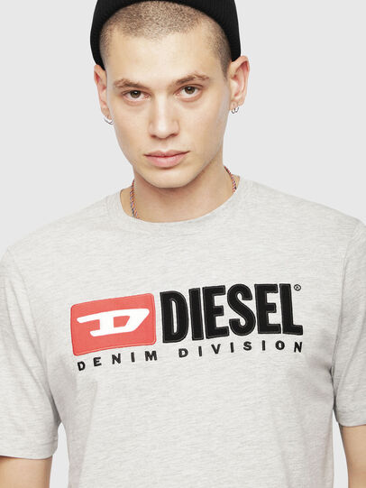 Diesel - T-JUST-DIVISION, Light Grey - T-Shirts - Image 3