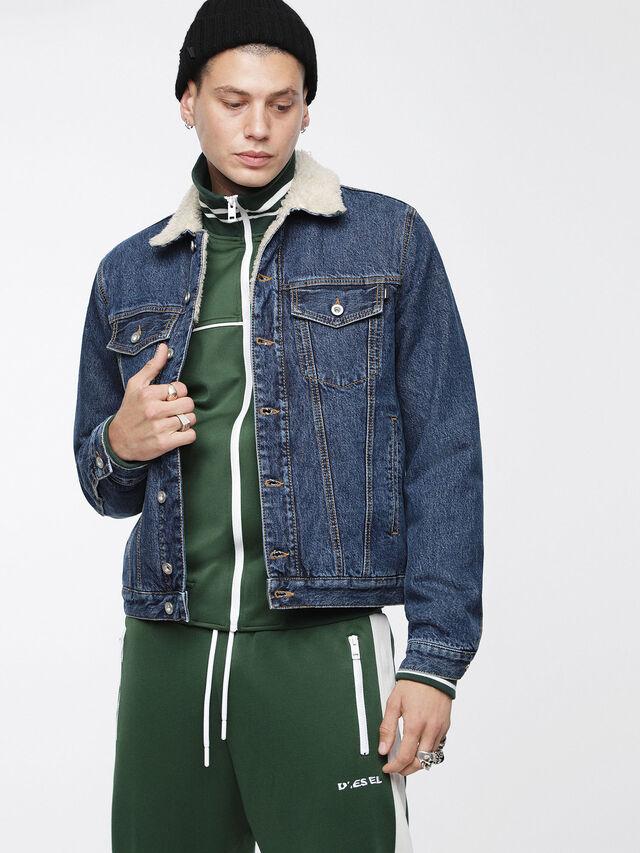 Diesel - D-GIOC-FUR, Blue Jeans - Winter Jackets - Image 1