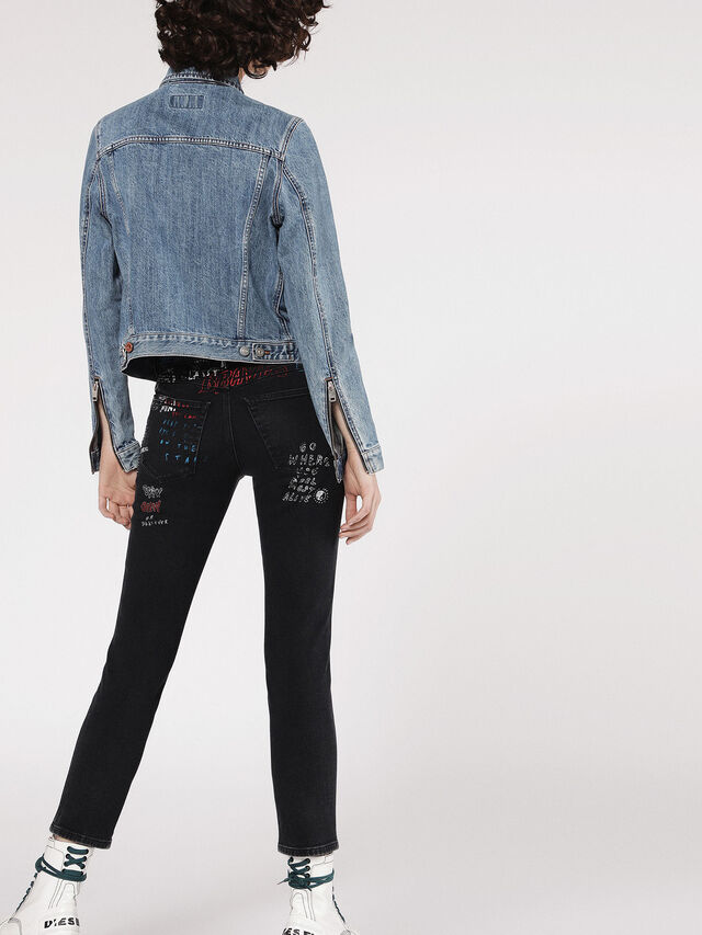 Diesel - DE-VELVET-ZIP, Blue Jeans - Denim Jackets - Image 4