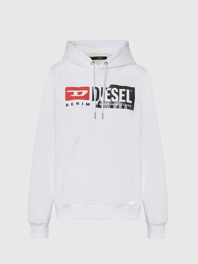 Diesel - F-ANG-HOOD-CUTY, White - Sweaters - Image 1