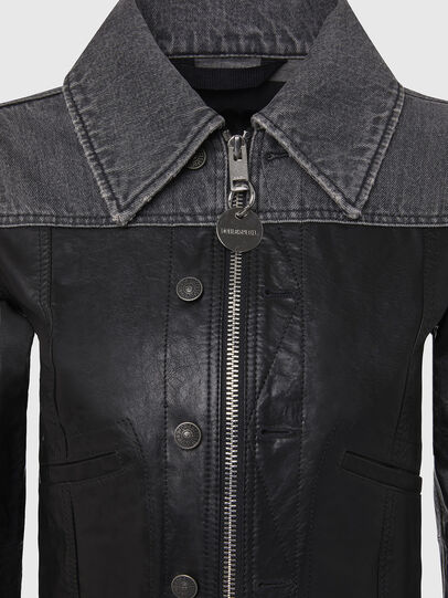 Diesel - L-LYLE, Black - Leather jackets - Image 4