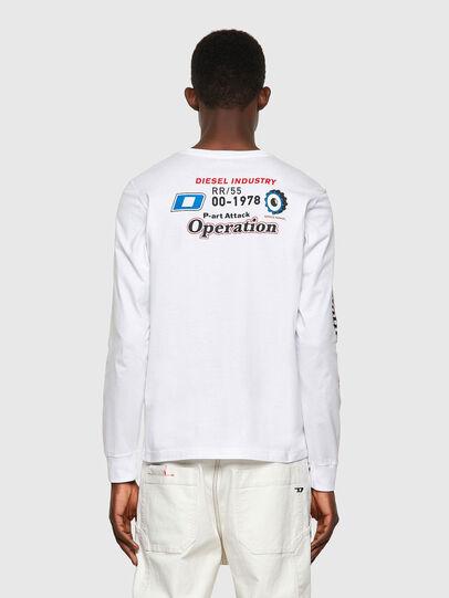 Diesel - T-DIEGOS-LS-K25, White - T-Shirts - Image 2