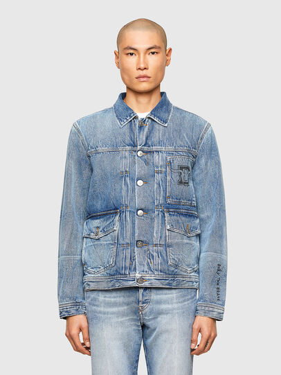 Diesel - CL-D-BIL, Light Blue - Denim Jackets - Image 1
