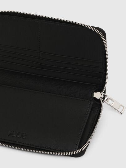 Diesel - GRANASOF, Black - Zip-Round Wallets - Image 6