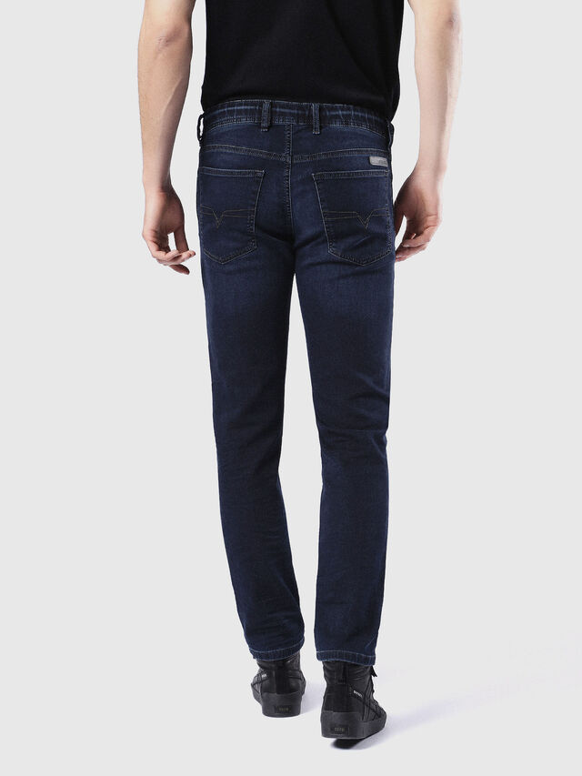 Diesel Waykee JoggJeans 0842W, Dark Blue - Jeans - Image 3