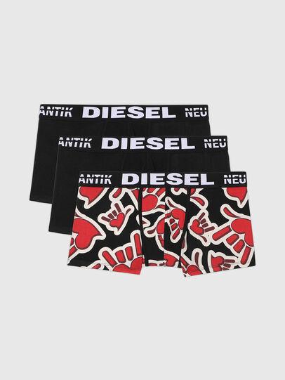 Diesel - UMBX-DAMIENTHREEPACK, Black/Red - Trunks - Image 1