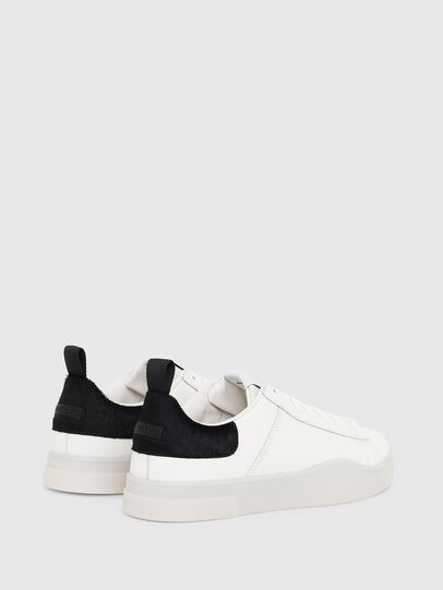 Diesel - S-CLEVER LOW LACE, White/Black - Sneakers - Image 3