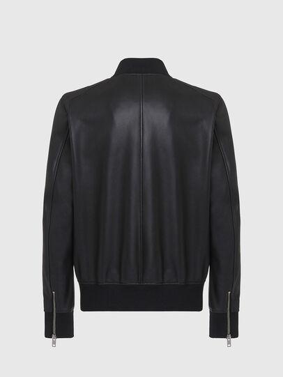 Diesel - L-JOSEPH, Black - Leather jackets - Image 2