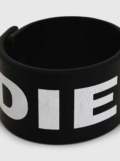 Diesel - A-LETTER, Black/White - Bijoux and Gadgets - Image 2