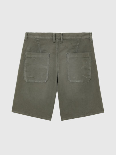 Diesel - D-AZERR-SHORT JOGGJEANS, Military Green - Shorts - Image 2