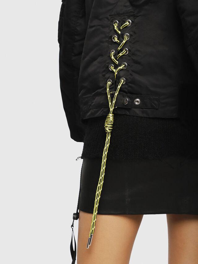 Diesel - W-ZALIA, Black - Winter Jackets - Image 4