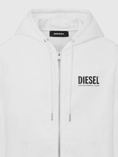 Diesel - S-GIRK-HOOD-ZIP-LOGO, White - Sweaters - Image 3
