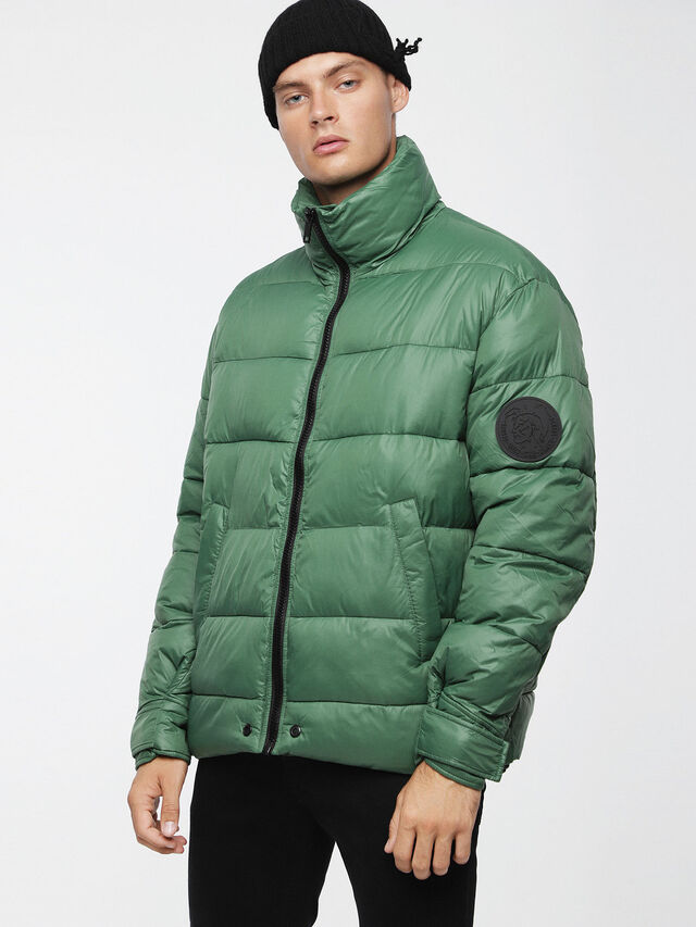 Diesel - W-SMITH-A-WH, Water Green - Winter Jackets - Image 1