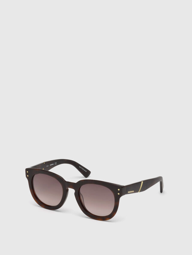 Diesel - DL0230, Brown/Black - Eyewear - Image 4