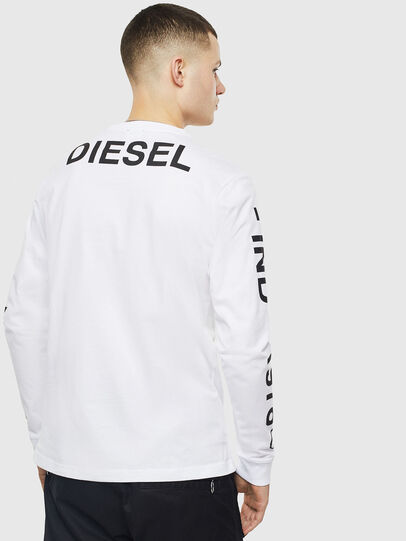 Diesel - T-JUST-LS-T14, White - T-Shirts - Image 2