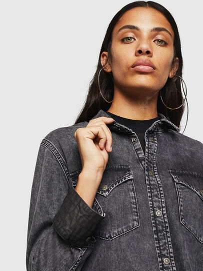 Diesel - DE-COLLY, Black/Dark grey - Denim Shirts - Image 6