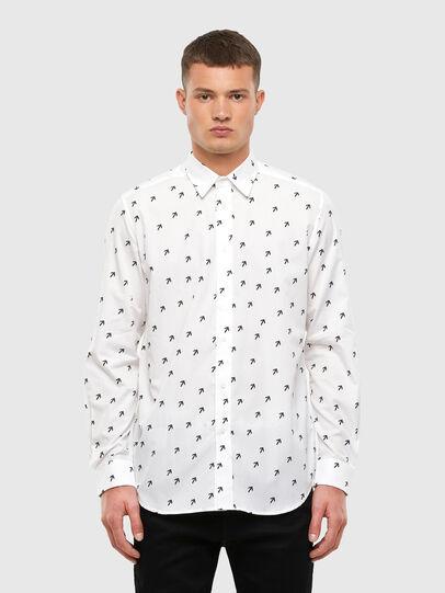 Diesel - S-RILEY-DART, White - Shirts - Image 1