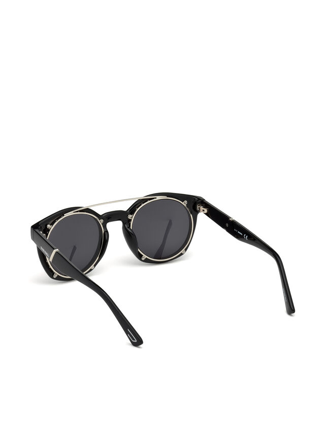 Diesel - DL0251, Bright Black - Sunglasses - Image 2