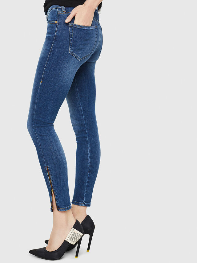 Diesel - Slandy Zip 088AU, Medium blue - Jeans - Image 3