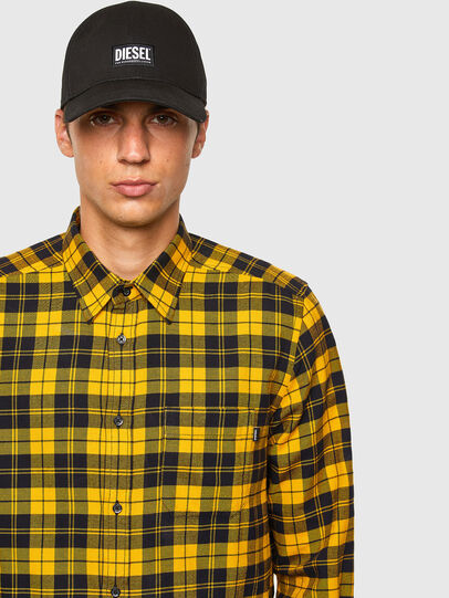 Diesel - S-MOI-CHK, Black/Yellow - Shirts - Image 4
