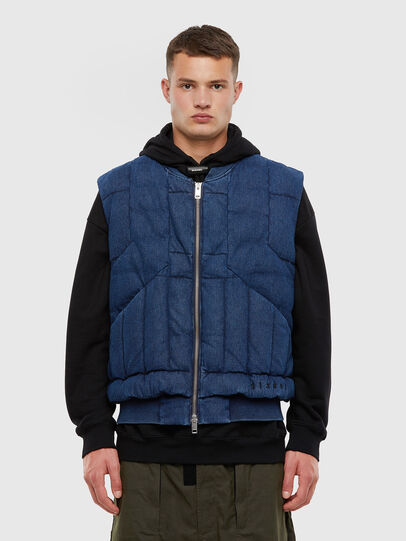 Diesel - D-WAIN, Medium blue - Denim Jackets - Image 1