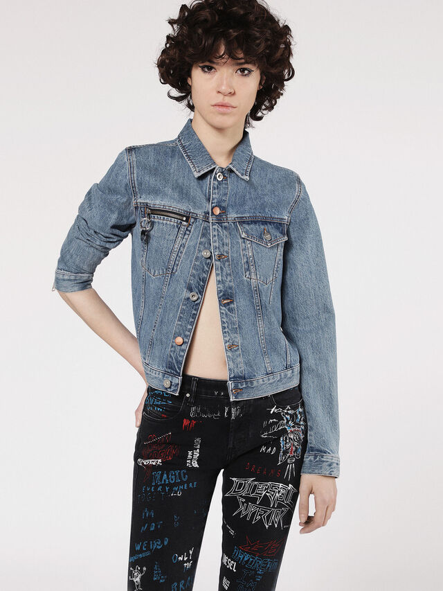 Diesel - DE-VELVET-ZIP, Blue Jeans - Denim Jackets - Image 1