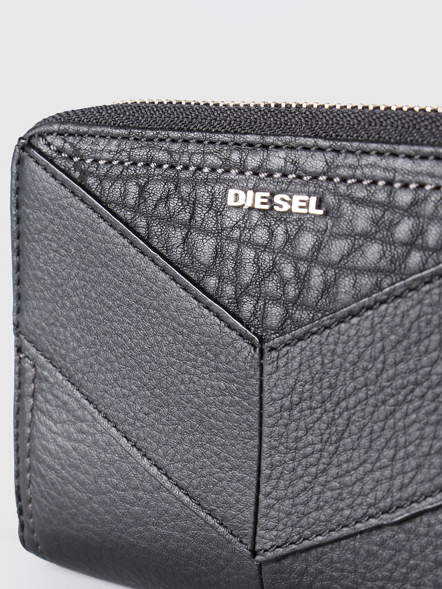 Diesel - JADDAA, Black Leather - Small Wallets - Image 3