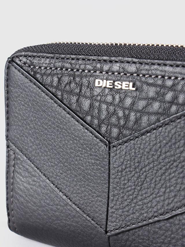 Diesel - JADDAA, Black Leather - Small Wallets - Image 3