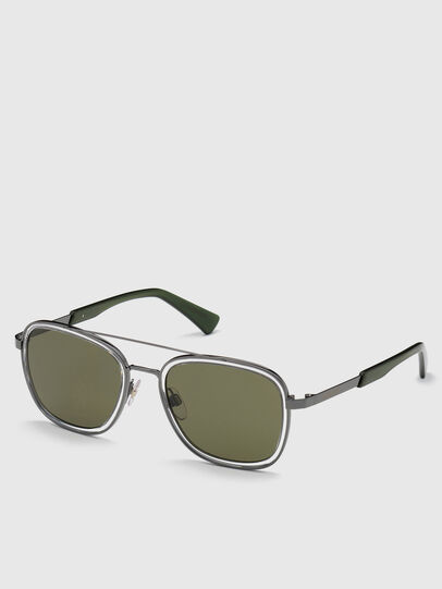 Diesel - DL0320, Green - Sunglasses - Image 2