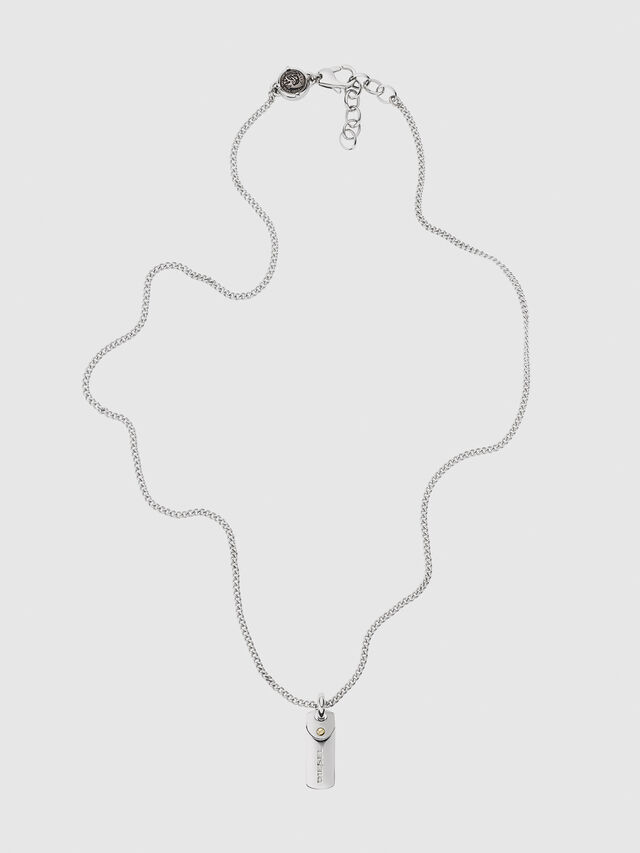Diesel - DX1116, Silver - Necklaces - Image 1