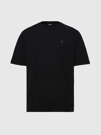 Diesel - K-CROFT-SS, Black - Knitwear - Image 1