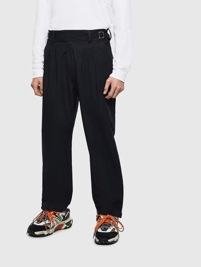 Diesel - P-COOLE, Black - Pants - Image 1