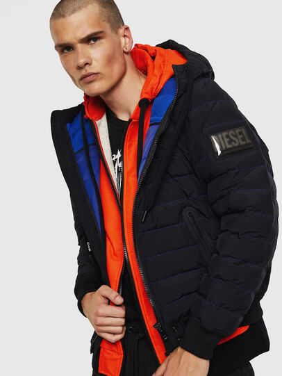 Diesel - W-OBLOSKY, Black - Winter Jackets - Image 4