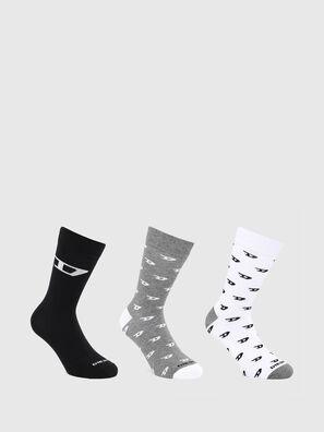 SKM-RAY-THREEPACK, Grey/White - Socks