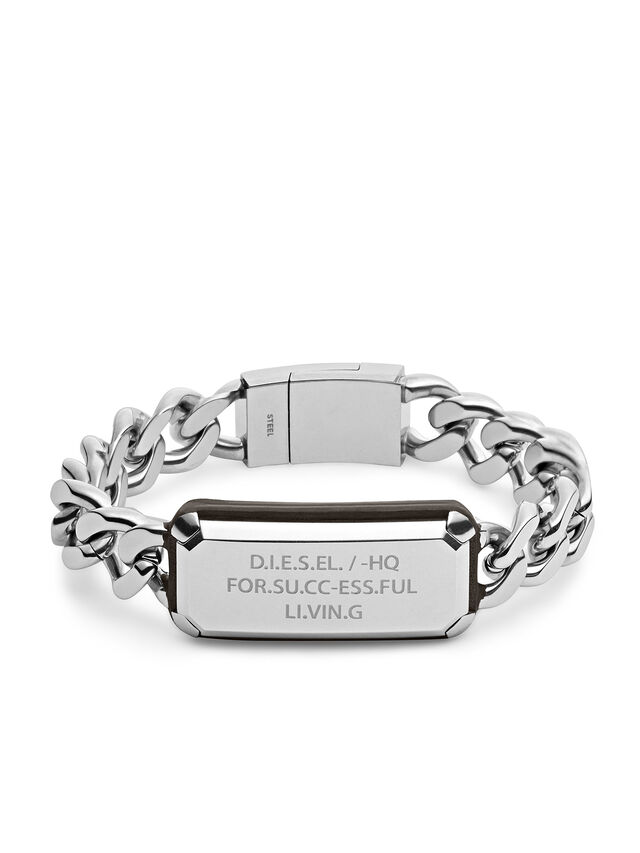 Diesel BRACELET DX1017, Silver - Bracelets - Image 1