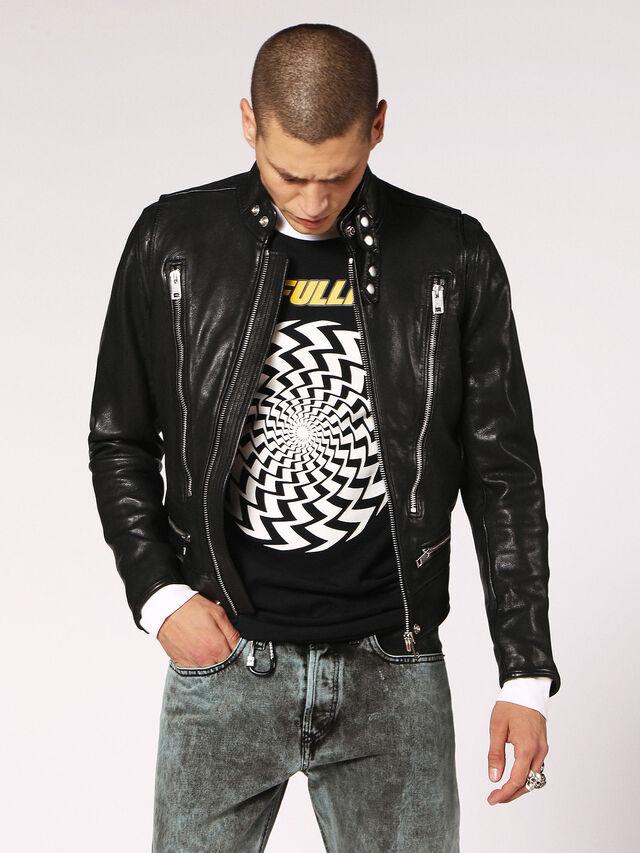 Diesel - L-HARDSTYLE, Black - Leather jackets - Image 1