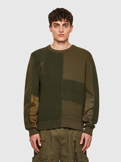 Diesel - K-YUKON, Military Green - Knitwear - Image 1