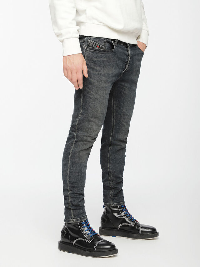 Diesel - Sleenker 084VQ, Black/Dark grey - Jeans - Image 3
